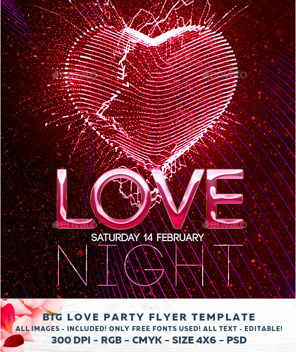 22 Awesome Valentines Day Flyer Template Designs 22 Awesome