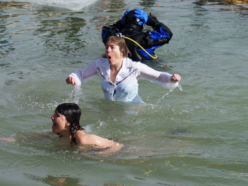 Shocking. Polar Plunge 2014. Read about it: http://www.bullfrogspas ...