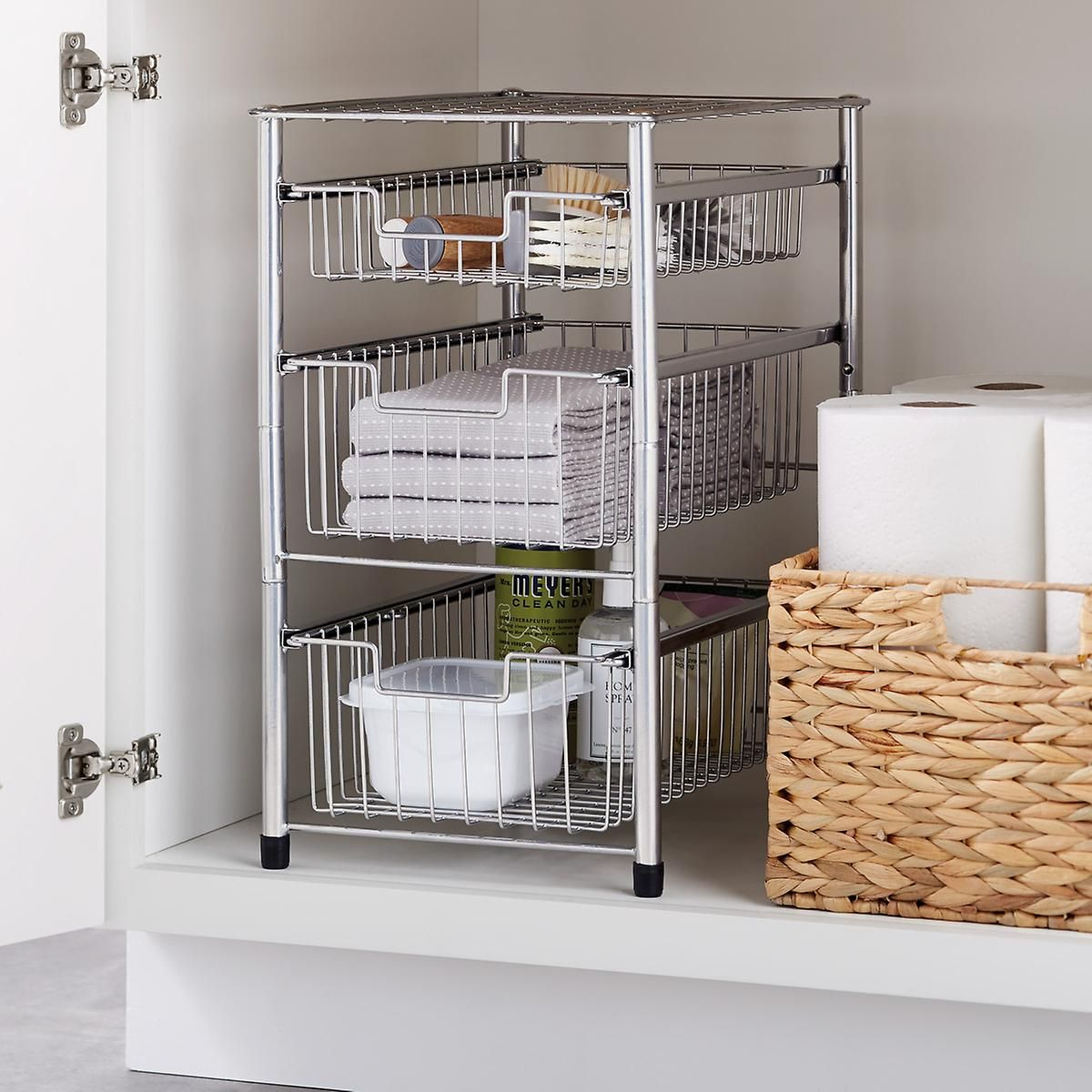 Wire Pull Out Cabinet Organizers Cabinets Organization Storage Cabinets Under Cabinet Storage [ 1200 x 1200 Pixel ]
