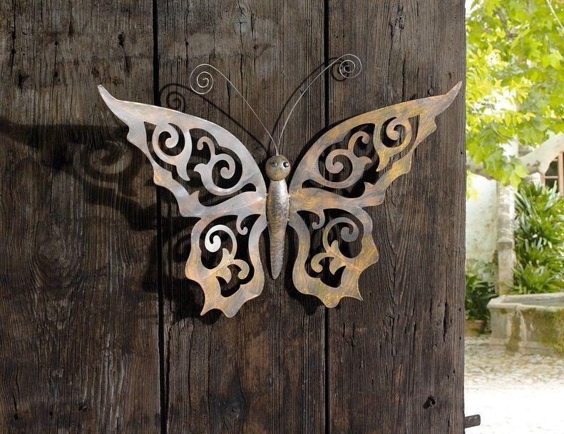Wanddeko Garten details zu xl wandhänger schmetterling wanddeko wandschmuck hänger
