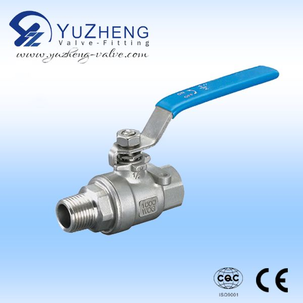 2pc Ball Valve With Female And Male Thread Operation Pressure 1000wog Size Dn15 Dn100 Application Industrial Home And Construction Valve Gate Valve Ball