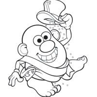 Potato Head New Years Coloring Page Color Your Own New Years Mr