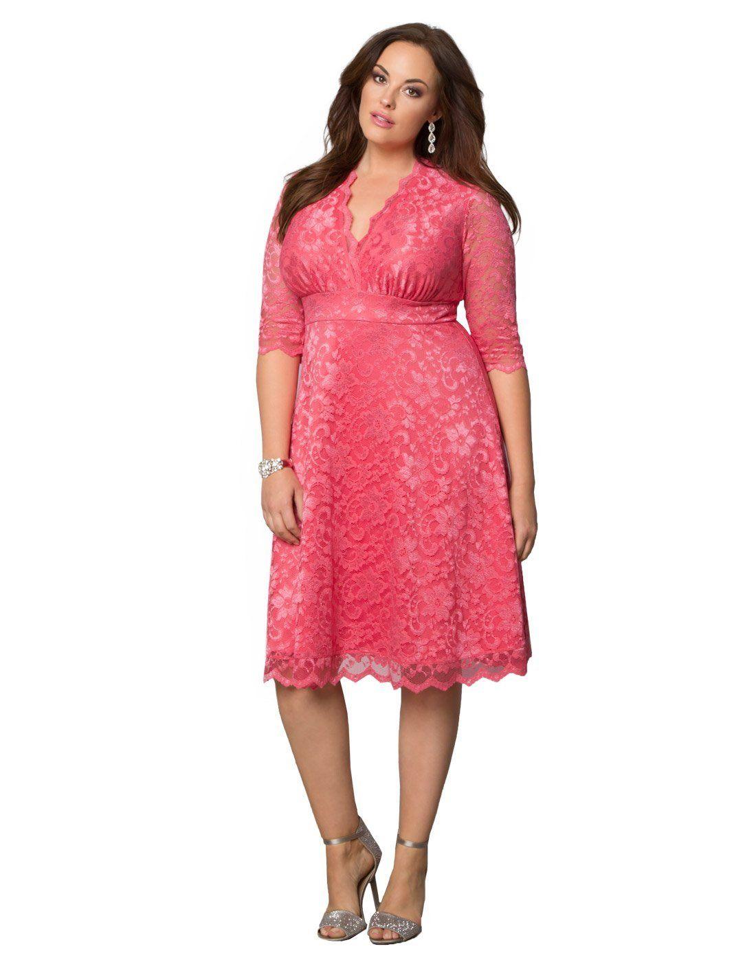 Kiyonna Womens Plus Size Mademoiselle Lace Dress 4x Onyx Amazon
