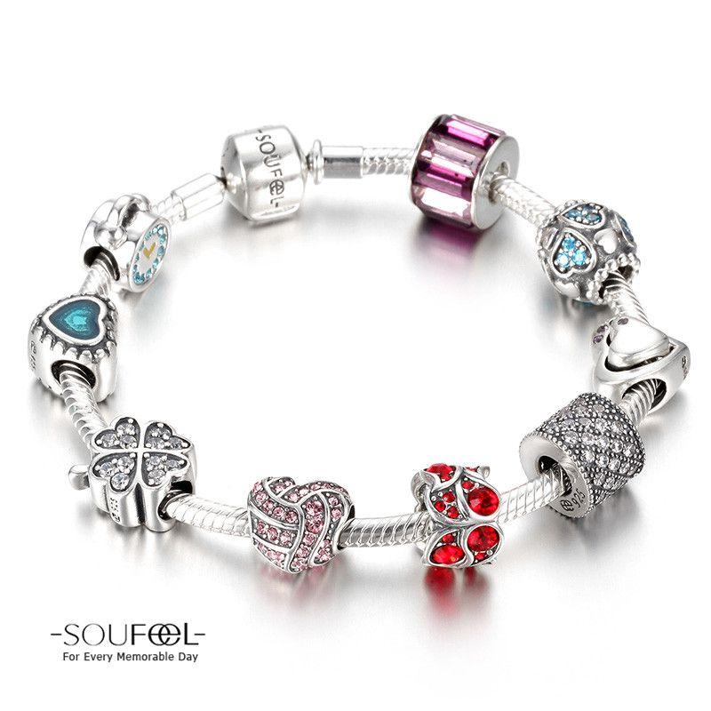 Soufeel Love Forever Charm Bracelet 925 Sterling Silver Compatible All Brands Basic For Every