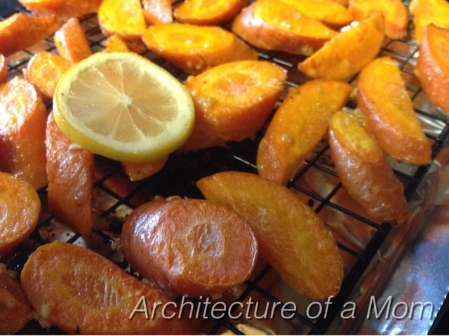 Roasted Lemon Garlic Carrots