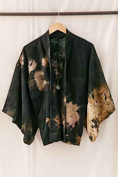 Rough And Tumble Vintage Acidic Cropped Kimono Jacket