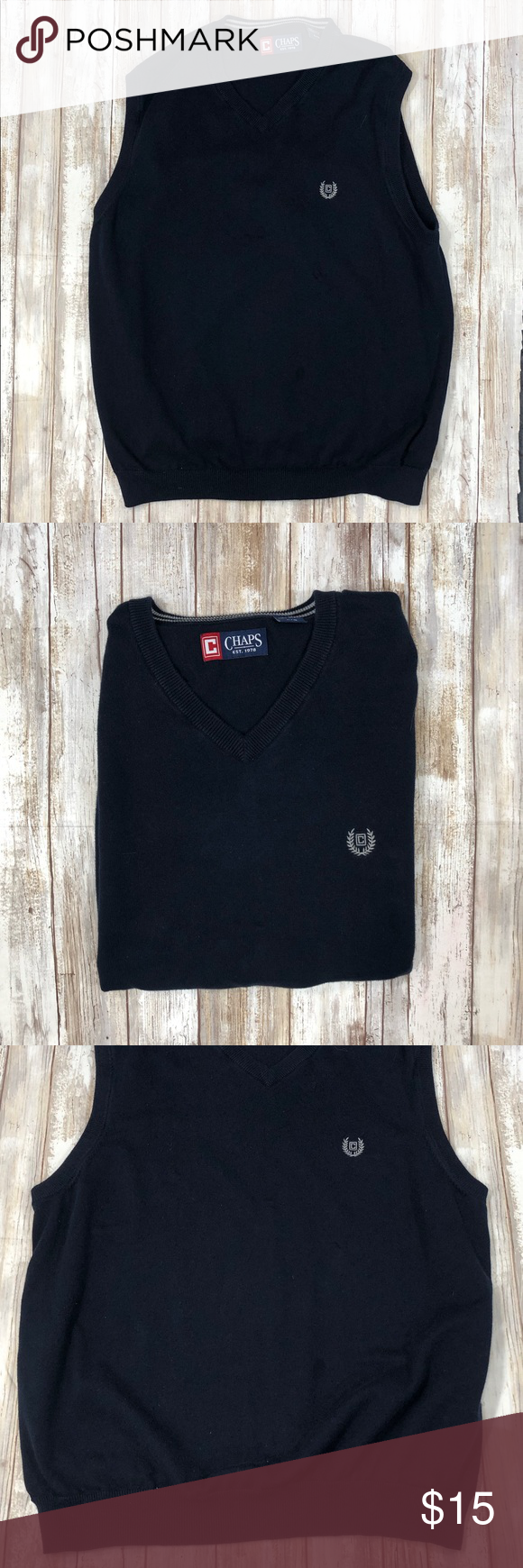 7ffe353f ⚒Men's vest CHAPS Golf sweater style size Large Very nice men's sweater  vest size Large