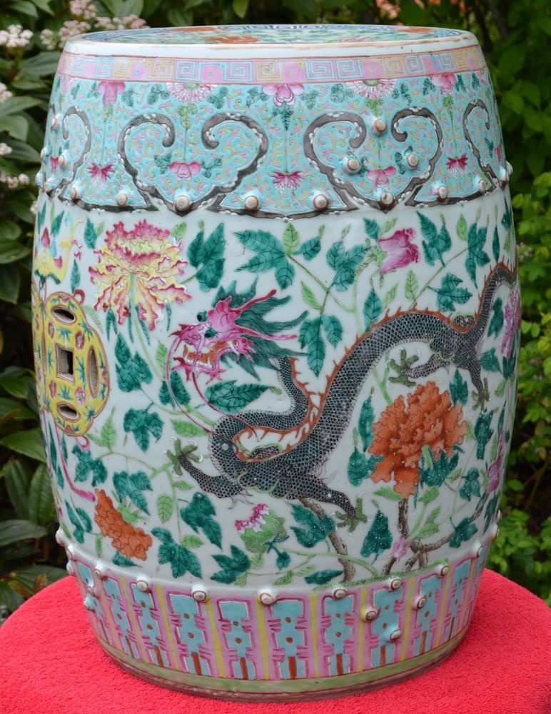 Amazing 19 20C Antique Or Vintage Chinese Porcelain Garden Seat Pabps2019 Chair Design Images Pabps2019Com