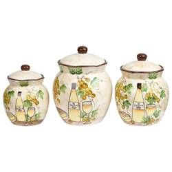 Rosemount 3 Piece Kitchen Canister Set Kitchen Canister