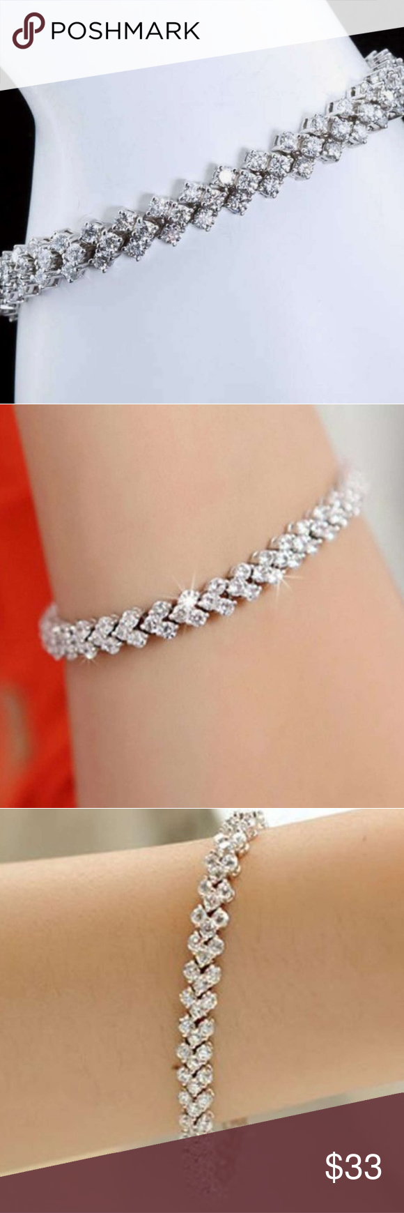 1 4 Ct T W Diamond Tennis Bracelet Adorn Her Wrist In The Lavish Display Of This Gleaming 1 4 Ct T W Diamond Tennis Bracelet In St My Posh Picks Fashi
