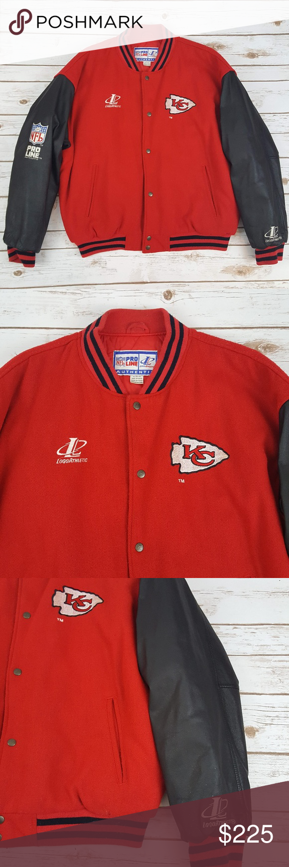 Pro Line Leather Sleeve Kansas City Chiefs Jacket Vintage Nfl Pro Line Authentic Leather Sleeve Kc Kansas City Chiefs Jacke Line Jackets Leather Sleeve Jackets [ 1740 x 580 Pixel ]