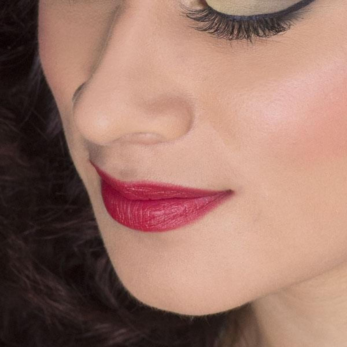 Faithful recreations of Snow White's lip color, based on the original