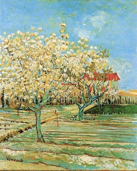 Van Gogh, Orchard in Blosson, 1888