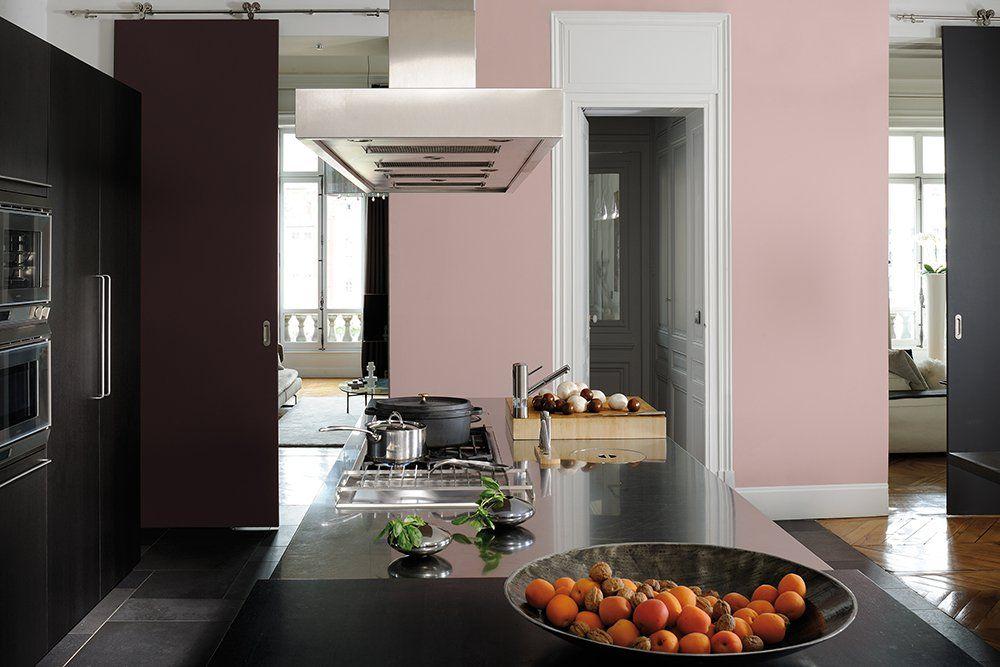 Mur de cuisine rose poudré Deco Pinterest Salons