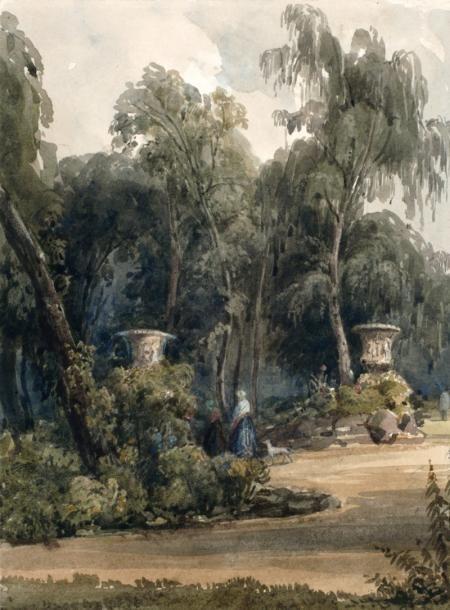 Dans le parc à ROYAUMONT, près de PARIS par WILLIAM CALLOW