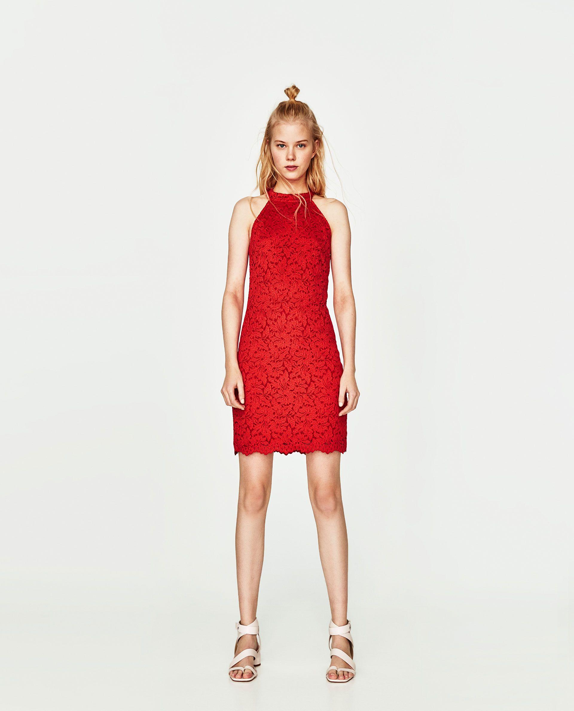 9d580cf615deb VESTIDO ENCAJE | ZARA | Dresses, Lace dress, Zara fashion