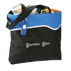 Start a new wave of advertising with this fun bag.