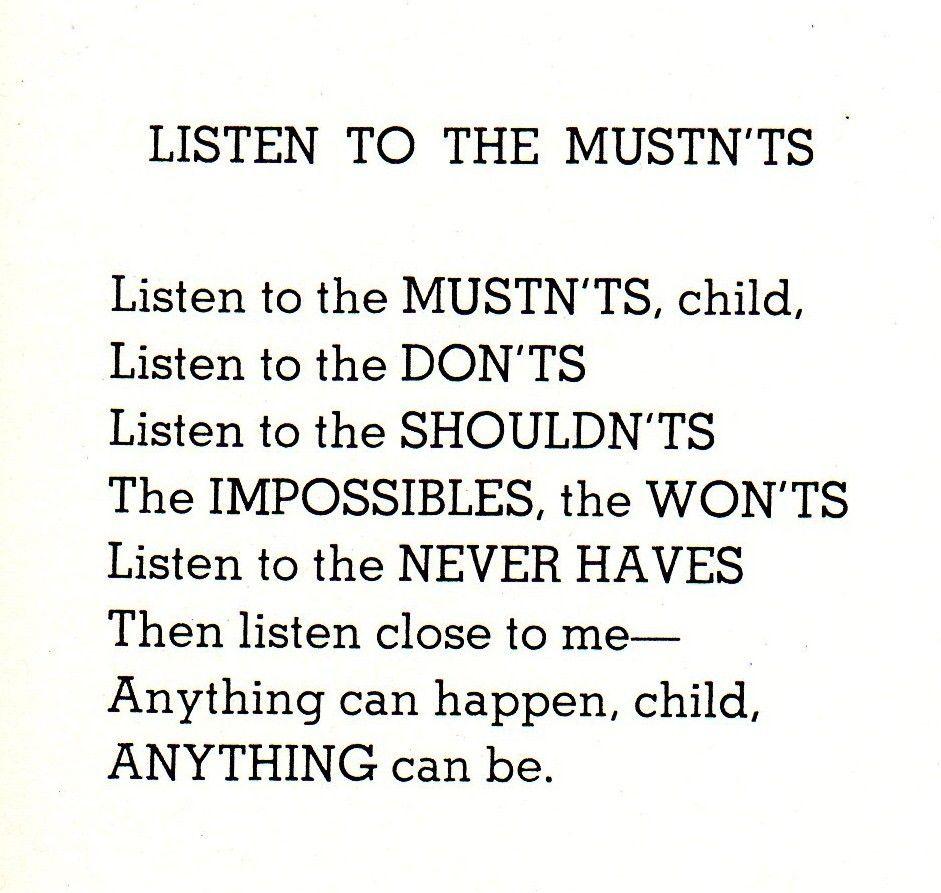 kayleejennnn:    My favorite Shel Silverstein poem