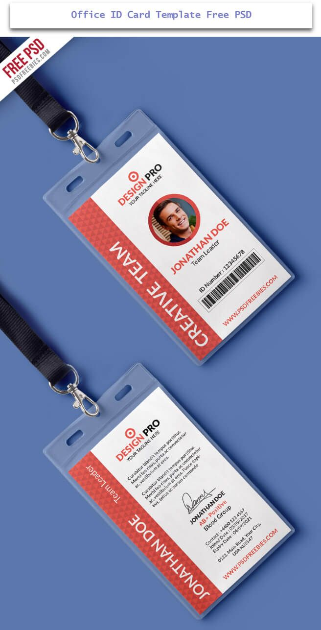 30 Creative Id Card Design Examples With Free Download Tech Trainee Identity Card Design Id Card Template Office Cards