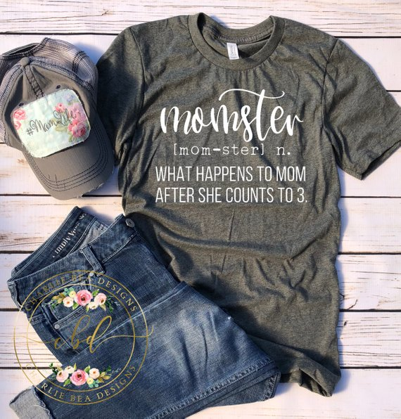 8ceee835 Momster Definition Shirt - Funny Mom Shirt - Momster - Mom Shirt - Mothers  Day - Mama Shirt - Mother