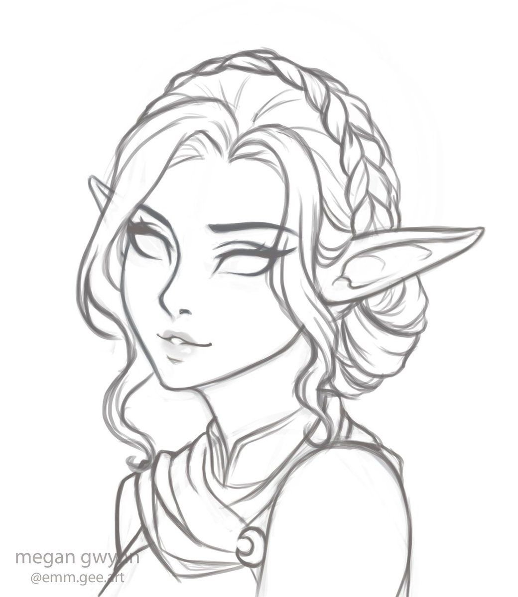 Megantron On Elf Drawings Sketches Art Sketches
