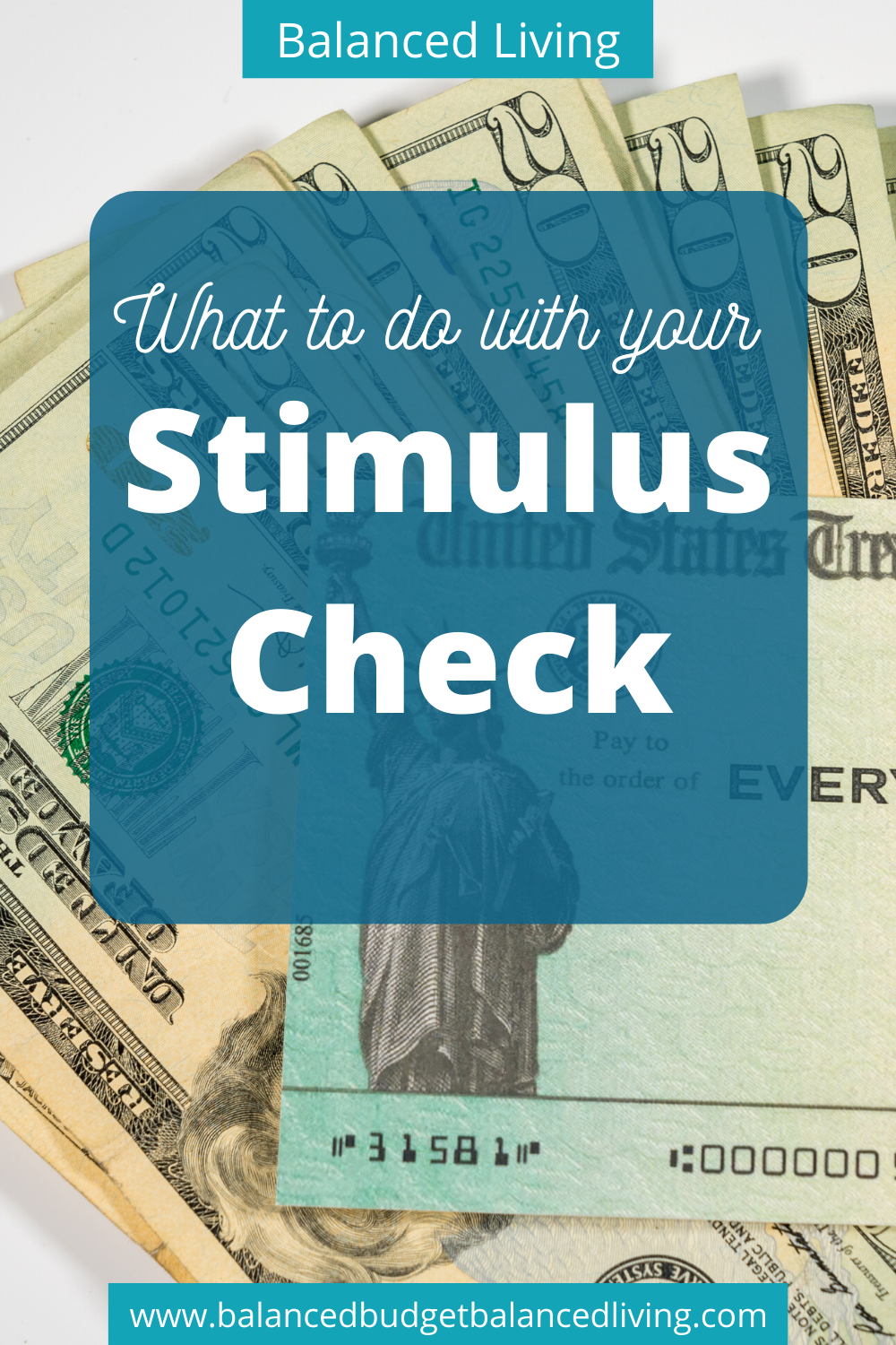 What To Do With Your Stimulus Check Check And Balance Financial Tips Personal Finance