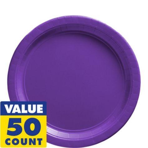 Purple Paper Lunch Plates - 50ct $8.99 - Party City  sc 1 st  Pinterest & Purple Paper Lunch Plates - 50ct $8.99 - Party City | Georgia\u0027s 3rd ...