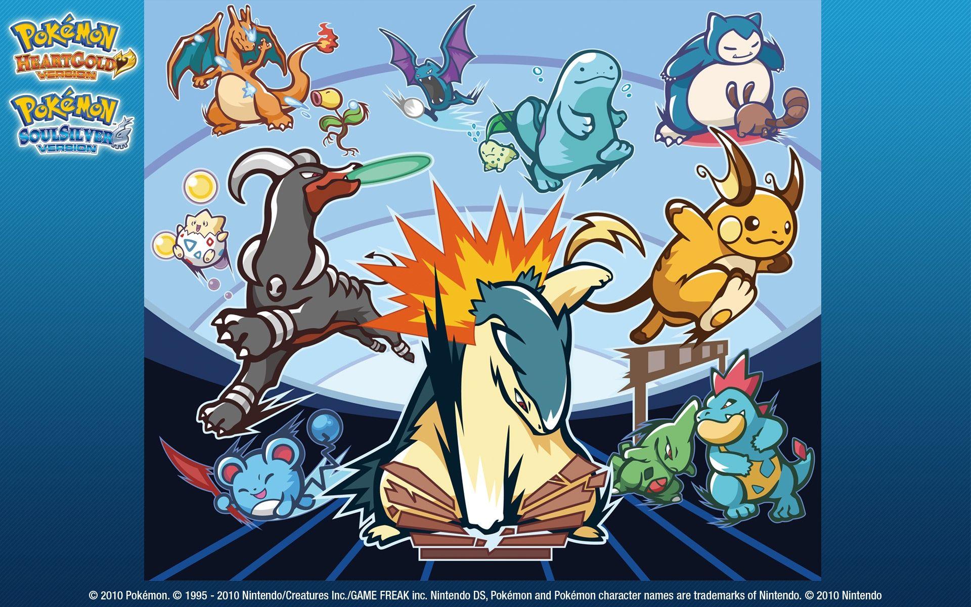 Pokemon Heartgold And Soulsilver Wallpaper Pokemon Pokemon