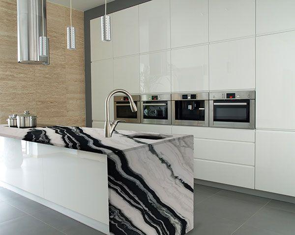 panda white #marble countertop #naturalstone #kitchen ...