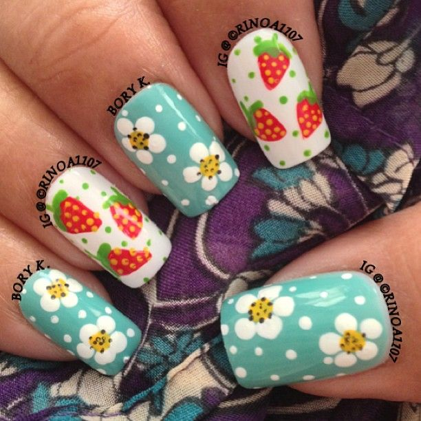 Strawberries and strawberry flowers - works spring on through summer