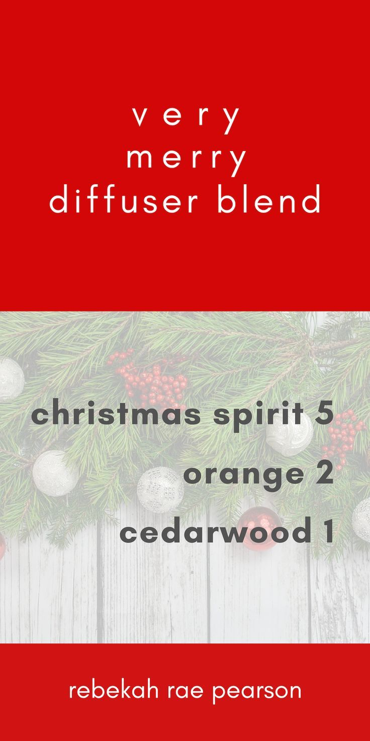 very merry essential oil diffuser blend #winterdiffuserblends