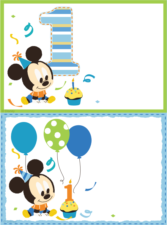 Free Printable Mickey Mouse Blank Invitation Template  Http