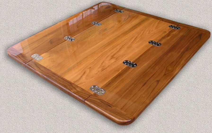 Exceptional Teak Table Tops   Custom Teak Marine Woodwork