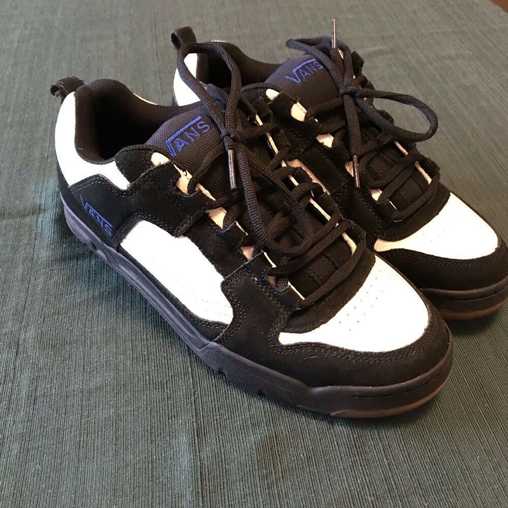 Vintage 90s Vans Lancers Mens Size 12 Black White Rare Skate Shoe Sneakers Men Vans Vans Style