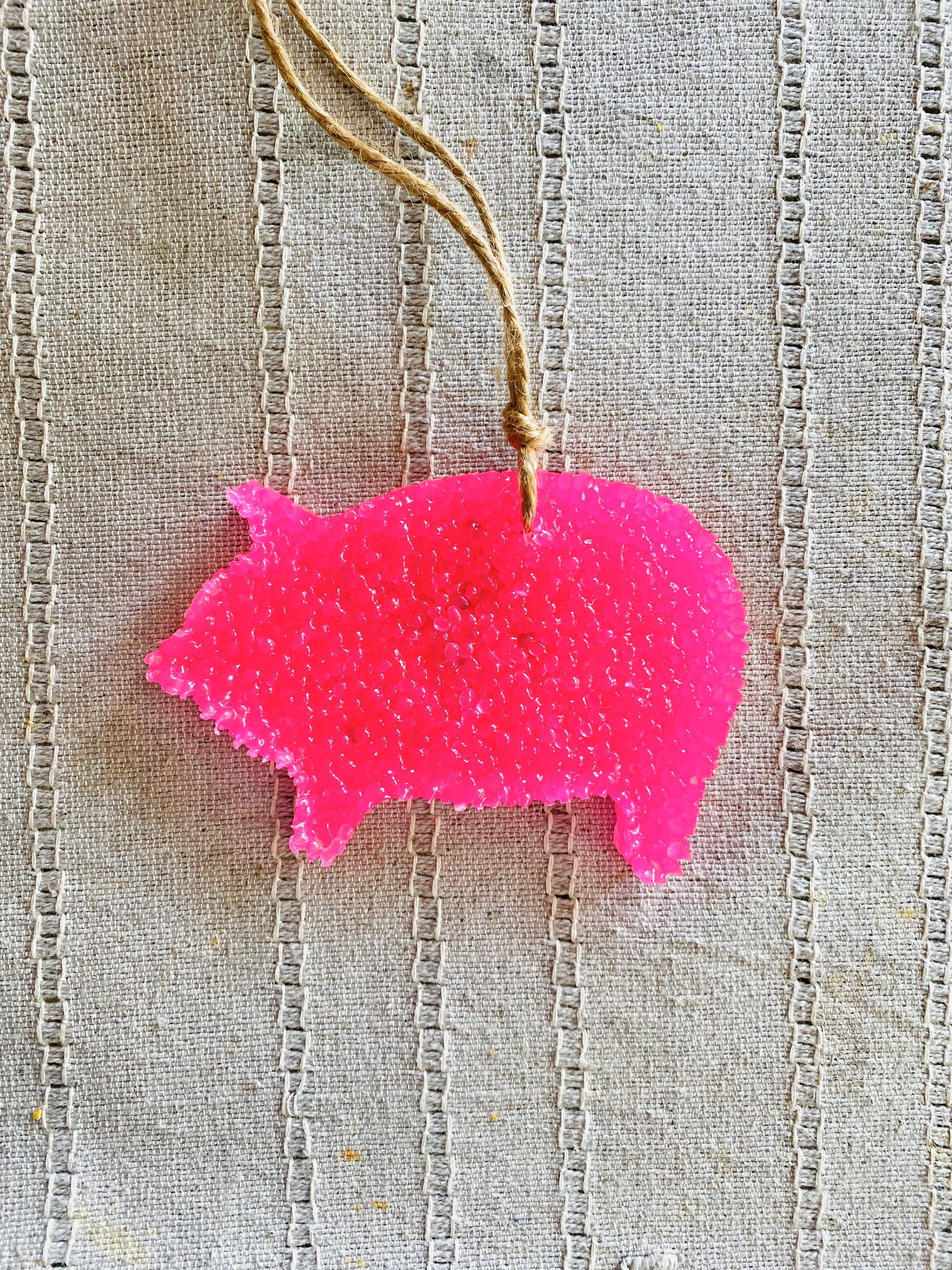 Pig Aroma Bead Car Air Freshener, Farmhouse Decor, Car