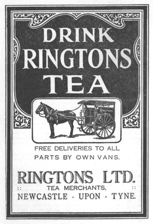 Vintage Ringtons Tea ad. I remember the Ringtons tea man used to bring tea to the house when I was a kid