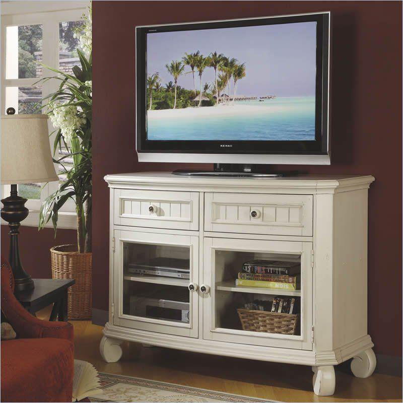 Riverside Cape May TV Console In Seaspray White $933.75