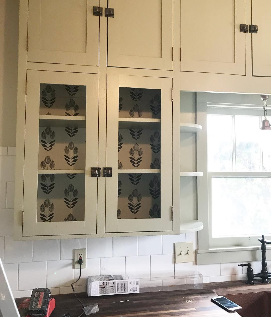Removable Wallpaper As Kitchen Cabinet Lining Wallpaper Cabinets Removable Wallpaper Painting Cabinets