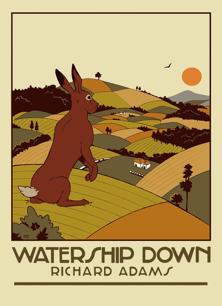 Watership Down Poster Book Cover Design By Deimos Remus