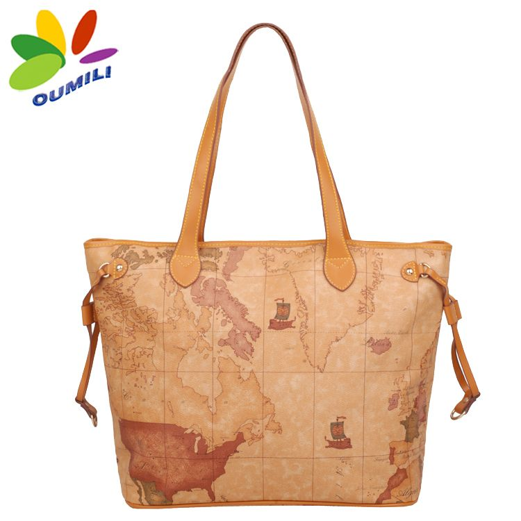 2012 fashion map bag portable women's handbag messenger bag autumn and winter bag on AliExpress.com. $54.13