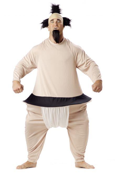 Adult Sumo Wrestler Bodysuit Halloween Costume