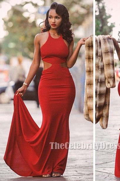 Lola Monroe Sexy Red Backless Prom Gown Evening Dress TCD6031 ...