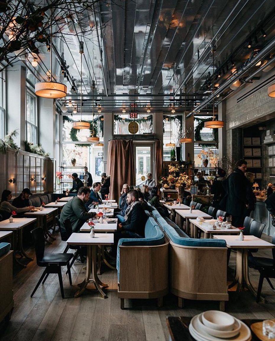 La Mercerie cafe & bar New York #restaurantdesign  Bar design