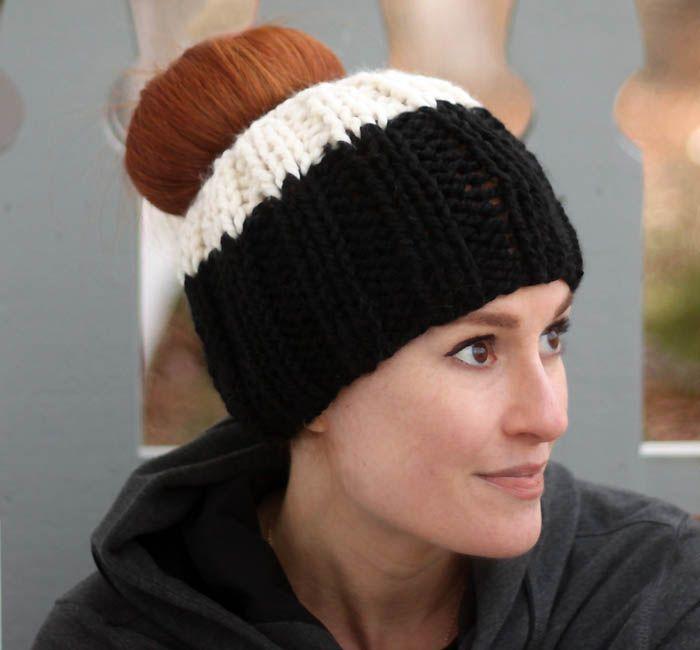 Messy Bun Hat Free Knitting Pattern Bolsa Bolsas Bags