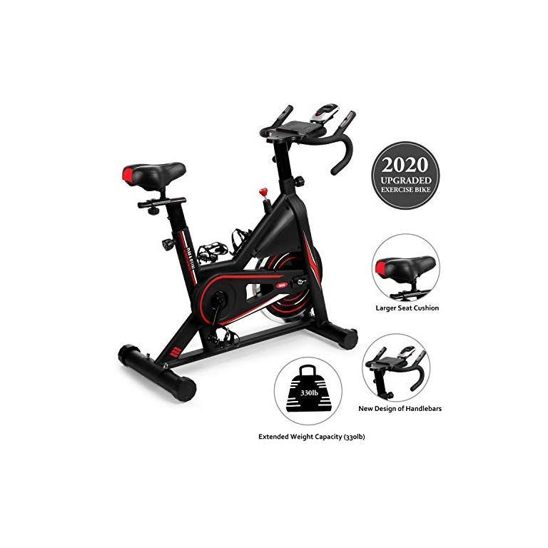 Dmasun Exercise Bike Indoor Cycling Bike Stationary Comfortable Seat Cushion Multi Grips Handlebar Heavy In 2020 Biking Workout Indoor Cycling Bike Cycling Bikes