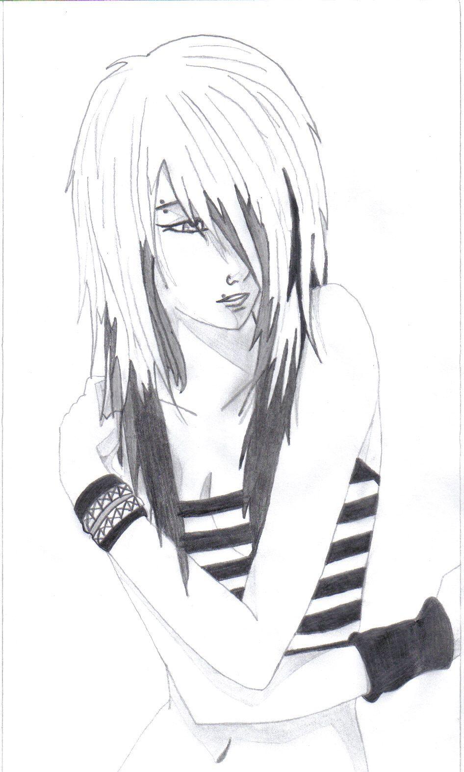Anime drawings emo anime love drawings