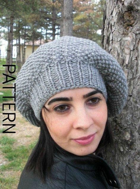 Hat Knitting Pattern Digital Knitting Pattern French Hat Knitting