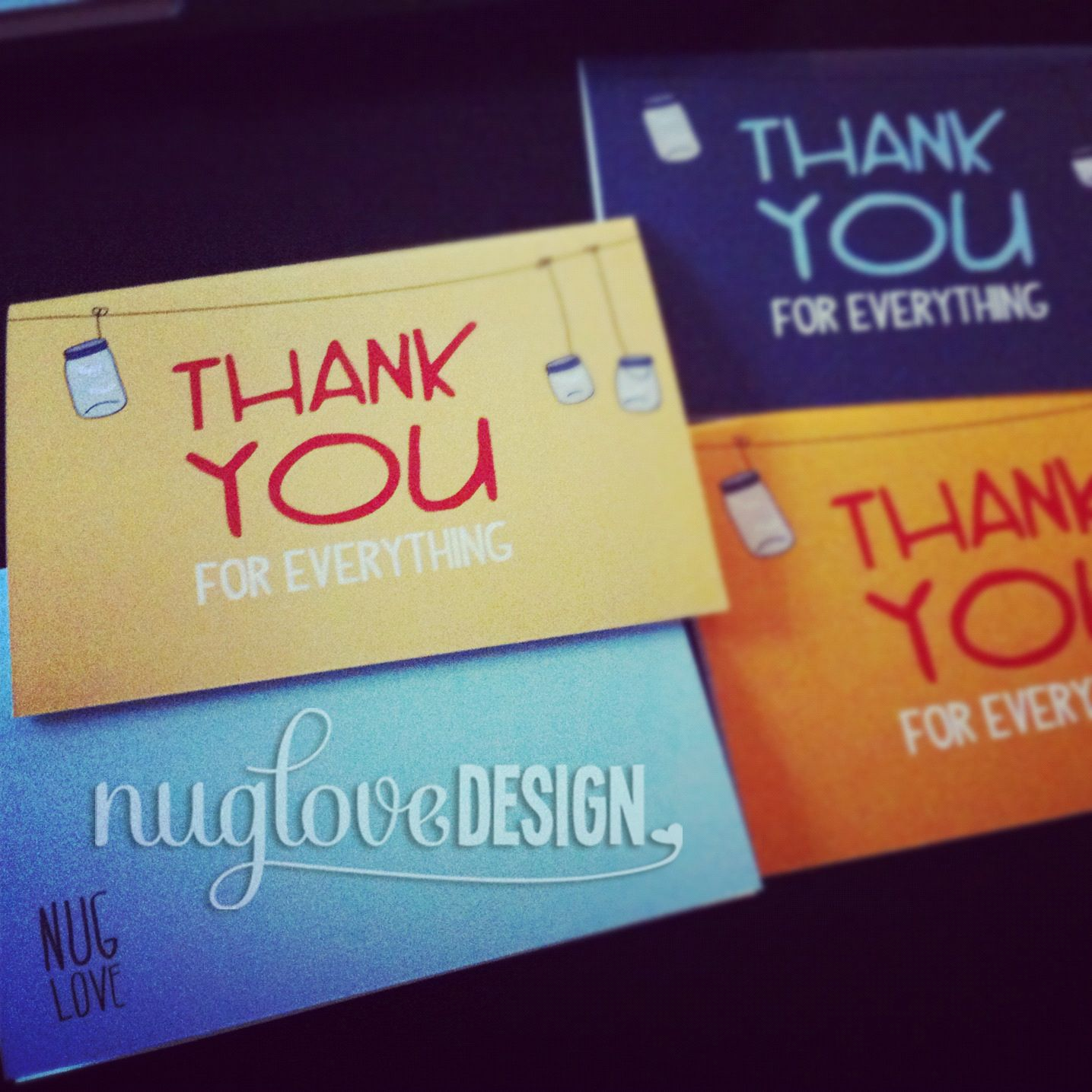 Custom made thank you cards, wedding invites.