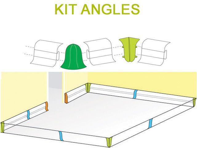 plinthe cache fil et embouts de finition sol mur. Black Bedroom Furniture Sets. Home Design Ideas