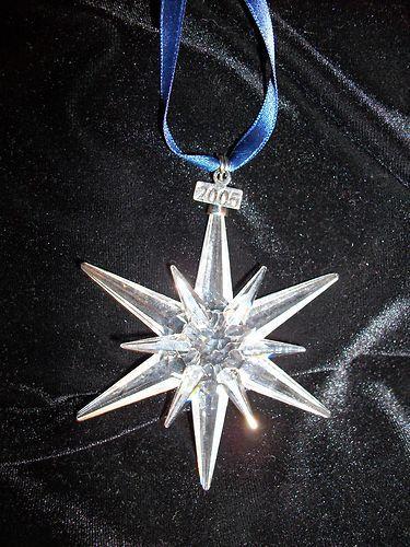 Swarovski Snowflake Christmas Ornament 2005